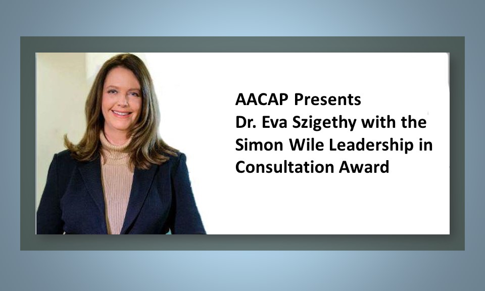 Dr. Szigethy Receives Simon Wile Award from AACAP