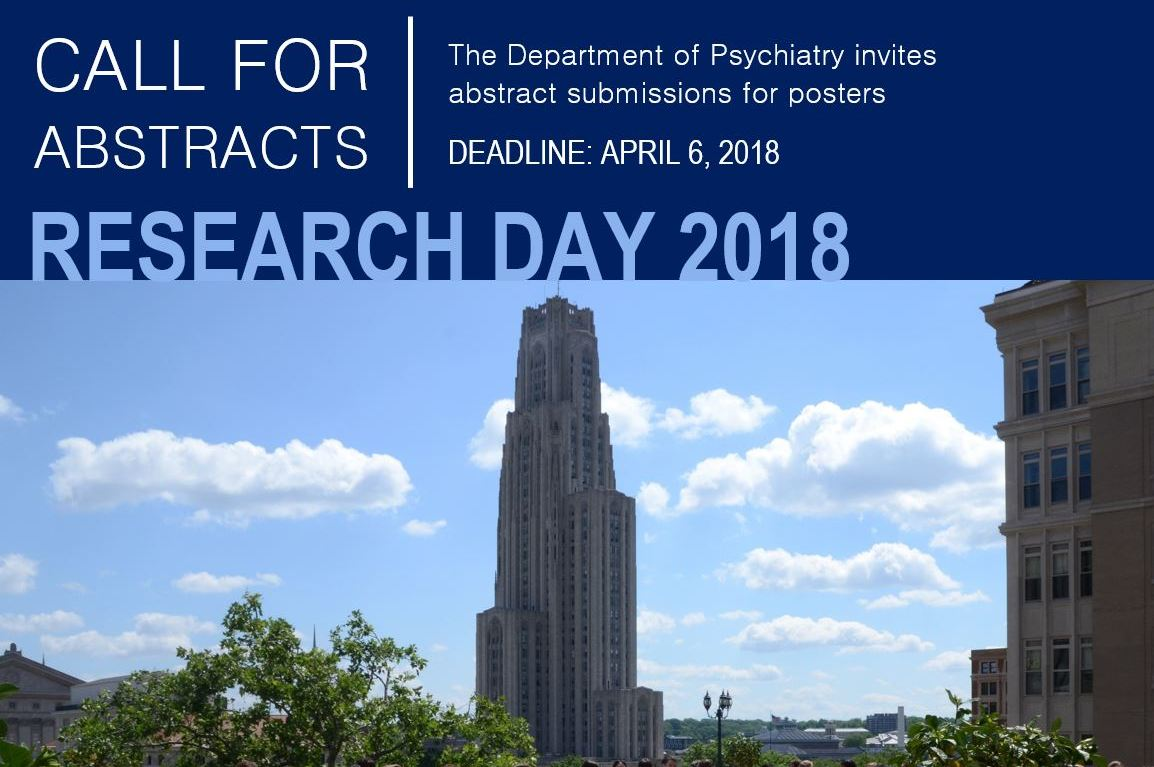 2018 Research Day Call for Abstracts Announcement