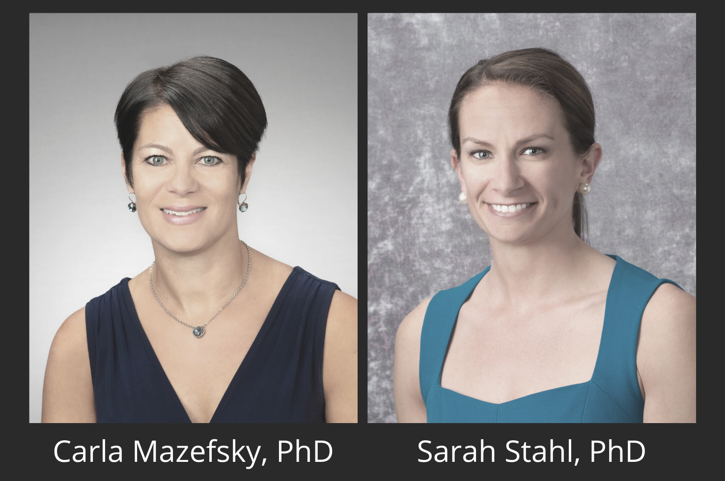 Carla Mazefsky, PhD, & Sarah Stahl, PhD, Honored for Mentorship