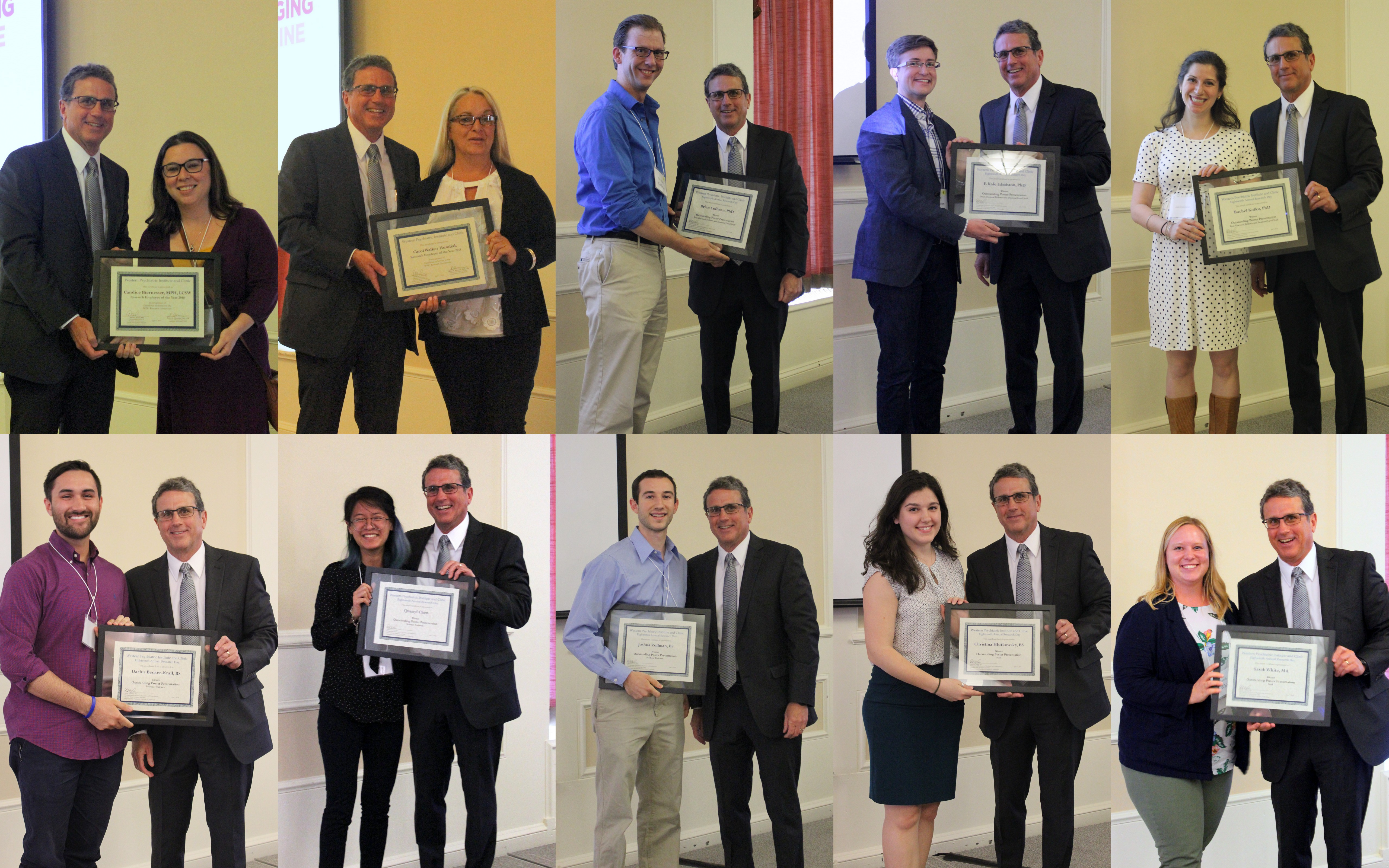 2018 Department of Psychiatry Research Day Best Poster Prize Recipients