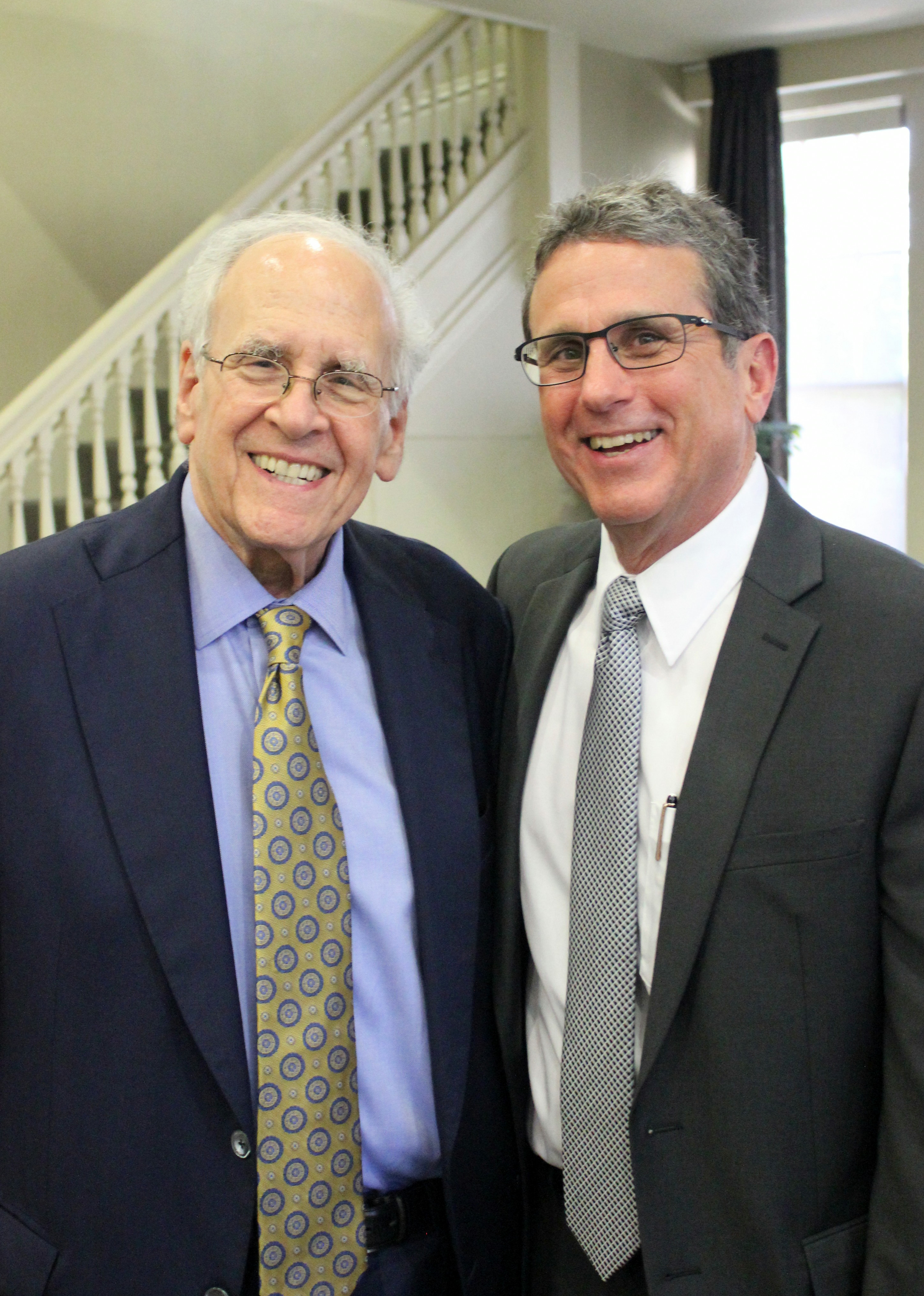 Drs. Loren Roth and David Lewis at the 18th Annual Department of Psychiatry Research Day