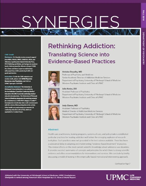 Synergies Fall 2018 Addiction