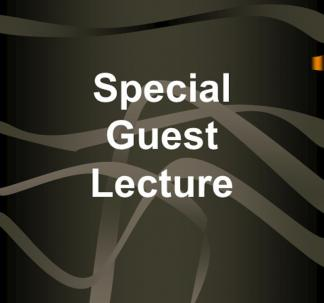 Special Guest Lecture