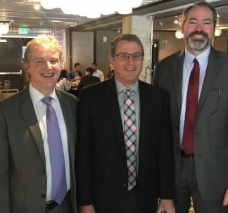 Drs. Ken Nash, David Lewis and Jamie Tew at the 2019 APA Meeting